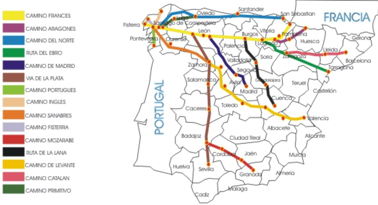 Jakobsweg Spanien Karte.Jakobsweg Pilgerweg In Spanien